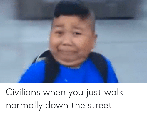 Civilians: Civilians when you just walk normally down the street