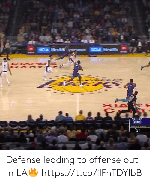 cla: CLA Health  STA PCE  Cen t  fमी  HORNETS  1ST Defense leading to offense out in LA🔥 https://t.co/iIFnTDYIbB