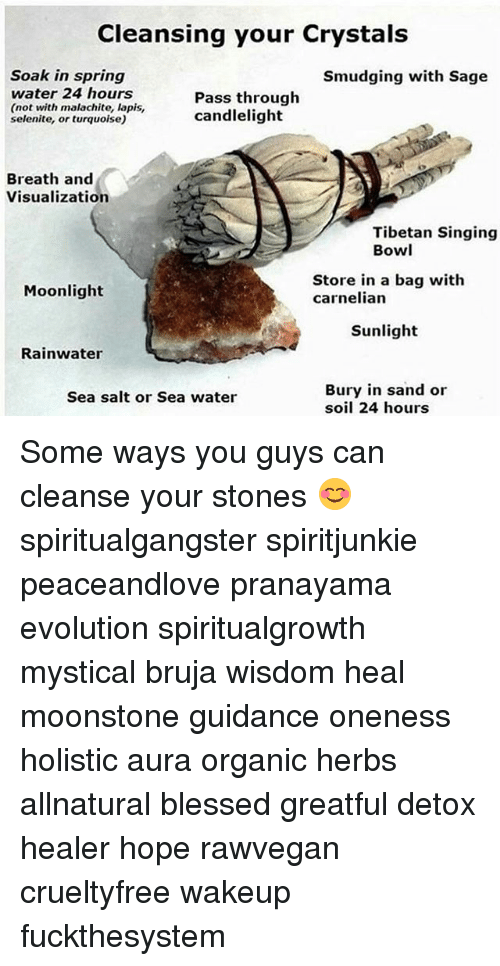 Cleansing Your Crystals Soak in Spring Smudging With Sage Water 24