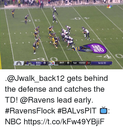 Memes, Ravens, and 🤖: CO  21 BAL 0  1 PIT 0 1st 10:52 :02  1st & 10 .@Jwalk_back12 gets behind the defense and catches the TD!  @Ravens lead early. #RavensFlock #BALvsPIT  📺: NBC https://t.co/kFw49YBjiF