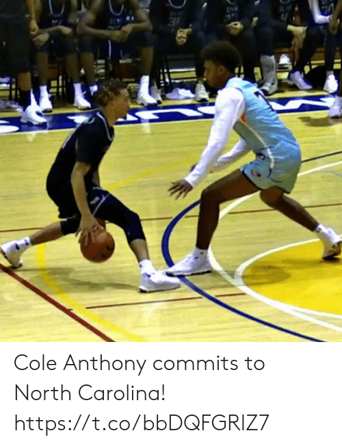 North Carolina: Cole Anthony commits to North Carolina!    https://t.co/bbDQFGRlZ7