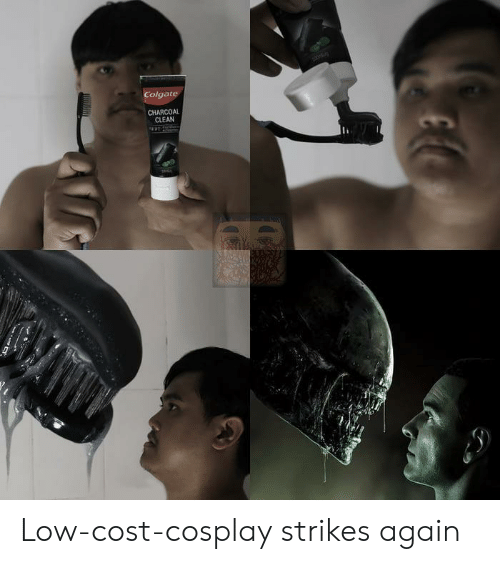 colgate: Colgate  CHARCOAL  CLEAN Low-cost-cosplay strikes again