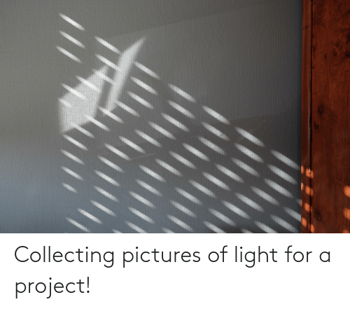 Collecting: Collecting pictures of light for a project!