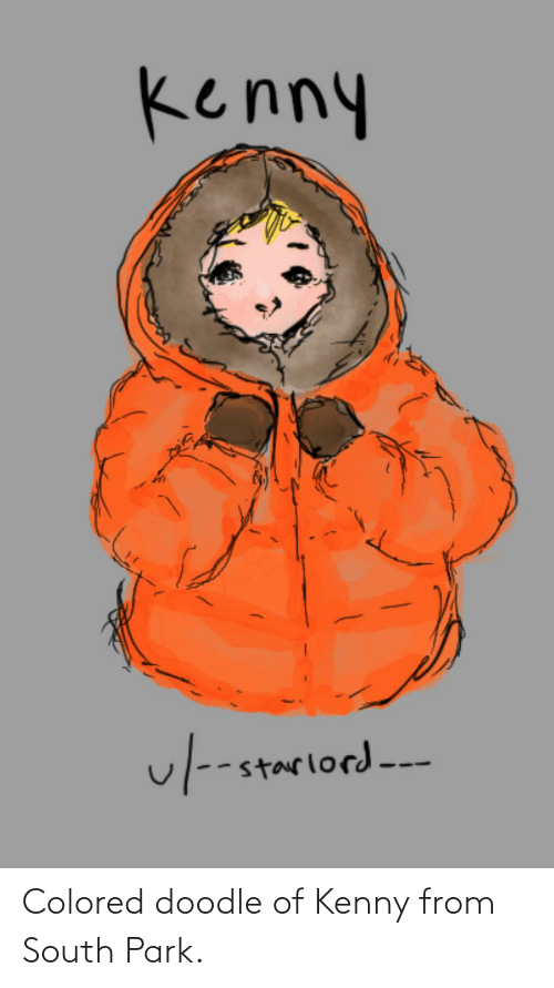 kenny: Colored doodle of Kenny from South Park.