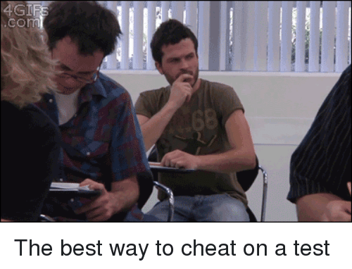 Best, Test, and Com: com The best way to cheat on a test