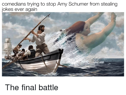 Amy Schumer, Jokes, and Amy: comedians trying to stop Amy Schumer from stealing  jokes ever again <p>The final battle</p>