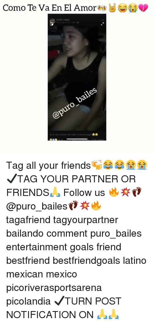 Friends, Goals, and Memes: Como Te Va En El Amor hig  Lords y ladys  Si se van a poner asi mejor ni tomen jajaja Tag all your friends🍻😂😂😭😭 ✔TAG YOUR PARTNER OR FRIENDS🙏 Follow us 🔥💥👣@puro_bailes👣💥🔥 tagafriend tagyourpartner bailando comment puro_bailes entertainment goals friend bestfriend bestfriendgoals latino mexican mexico picoriverasportsarena picolandia ✔TURN POST NOTIFICATION ON 🙏🙏