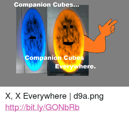 """x x everywhere: Companion Cubes...  Companion Cubes  Everywhere. <p>X, X Everywhere 