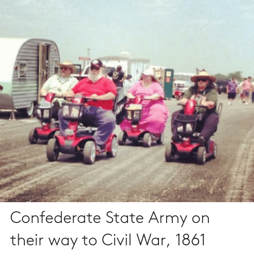 Confederate: Confederate State Army on their way to Civil War, 1861