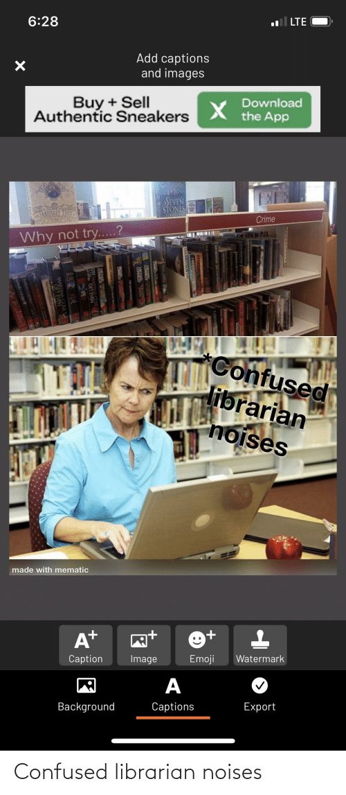 librarian: Confused librarian noises
