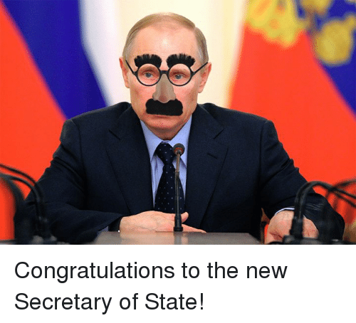 Dank, Congratulations, and 🤖: Congratulations to the new Secretary of State!