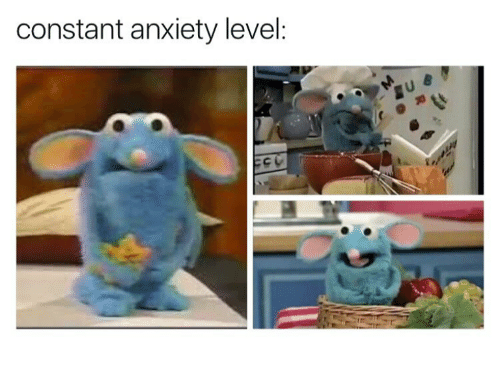 Anxiety Level: constant anxiety level: