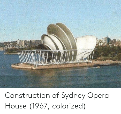 Opera: Construction of Sydney Opera House (1967, colorized)