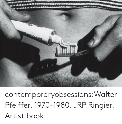 Tumblr, Blog, and Book: contemporaryobsessions:Walter Pfeiffer. 1970-1980. JRP Ringier. Artist book