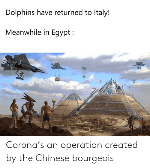 Created: Corona's an operation created by the Chinese bourgeois