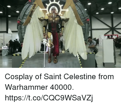 Warhammer: Cosplay of Saint Celestine from Warhammer 40000. https://t.co/CQC9WSaVZj