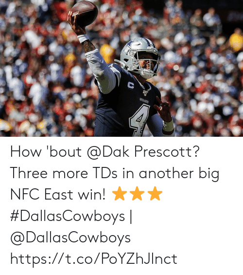 How Bout: COWECTS  क How 'bout @Dak Prescott? Three more TDs in another big NFC East win! ⭐⭐⭐  #DallasCowboys | @DallasCowboys https://t.co/PoYZhJlnct