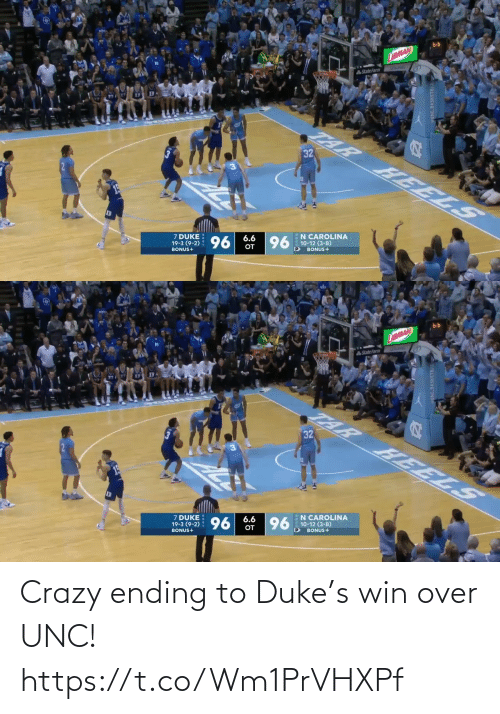 Ending: Crazy ending to Duke's win over UNC!  https://t.co/Wm1PrVHXPf