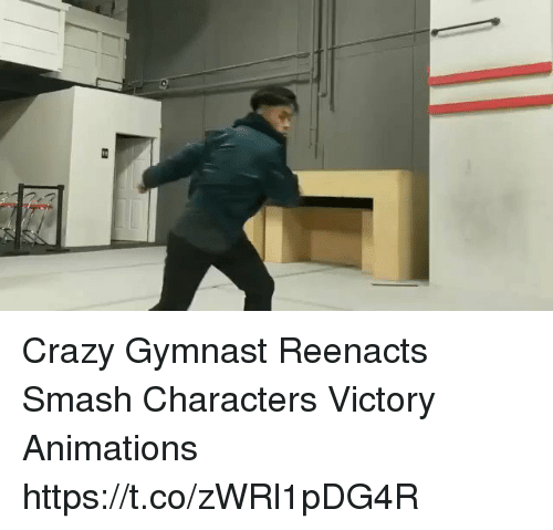 animations: Crazy Gymnast Reenacts Smash Characters Victory Animations https://t.co/zWRl1pDG4R