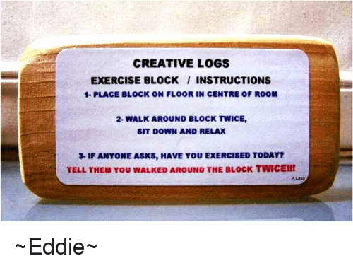 creative logs exercise block instructions 1 place block on floor in