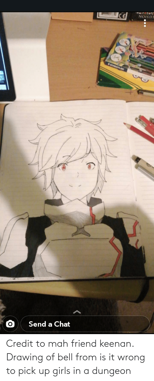 mah: Credit to mah friend keenan. Drawing of bell from is it wrong to pick up girls in a dungeon
