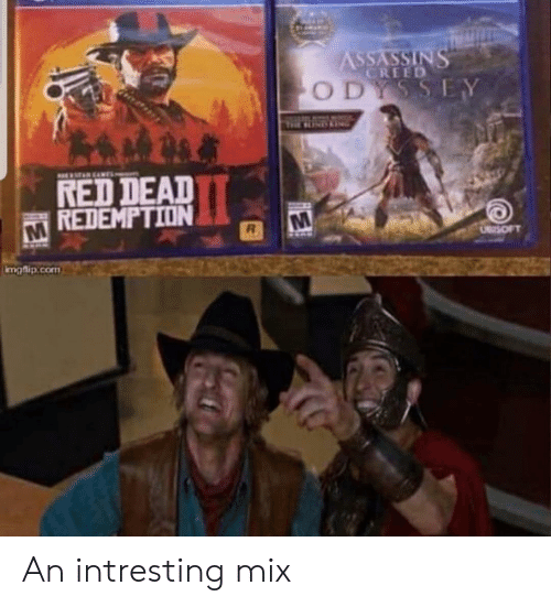 Creed, Red Dead Redemption, and Red Dead: CREED  O D  RED DEAD  REDEMPTION  maflip.com An intresting mix
