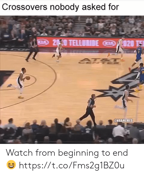 Memes, Watch, and 🤖: Crossovers nobody asked for  NBAMEMES Watch from beginning to end 😆 https://t.co/Fms2g1BZ0u