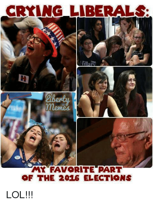 2016 Elections: CRYING LIBERALS:  Hil  MY FAVORITE PART  OF THE 2016 ELECTIONS LOL!!!