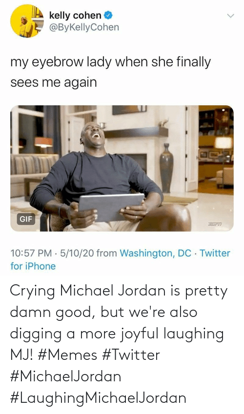 damn: Crying Michael Jordan is pretty damn good, but we're also digging a more joyful laughing MJ! #Memes #Twitter #MichaelJordan #LaughingMichaelJordan