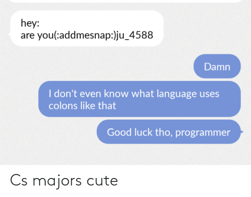 cute: Cs majors cute
