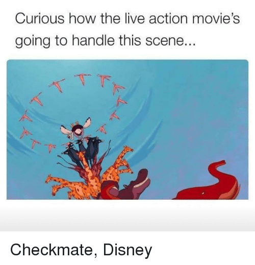 Disney, Movies, and Live: Curious how the live action movie's  going to handle this scene..  -下  ˊ  べ Checkmate, Disney