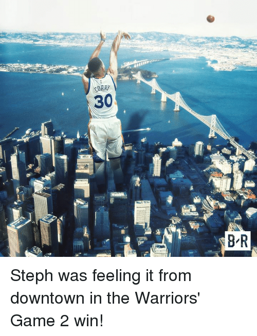 Warriors Game: CURRY  30  8 R Steph was feeling it from downtown in the Warriors' Game 2 win!