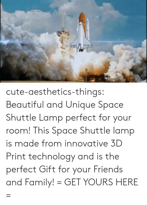 innovative: cute-aesthetics-things: Beautiful and Unique Space Shuttle Lamp perfect for your room! This Space Shuttle lamp is made from innovative 3D Print technology and is the perfect Gift for your Friends and Family! = GET YOURS HERE =