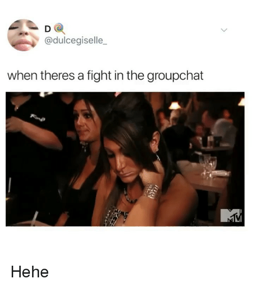 Memes, Fight, and 🤖: D O  @dulcegiselle_  when theres a fight in the groupchat Hehe