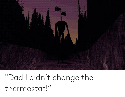 """Thermostat: """"Dad I didn't change the thermostat!"""""""
