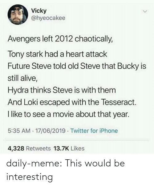post: daily-meme:  This would be interesting