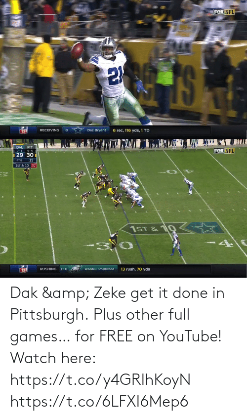 Games: Dak & Zeke get it done in Pittsburgh. Plus other full games… for FREE on YouTube!  Watch here: https://t.co/y4GRIhKoyN https://t.co/6LFXI6Mep6