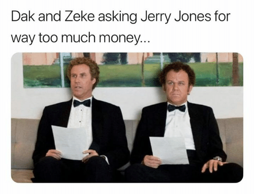 Jerry Jones: Dak and Zeke asking Jerry Jones for  way too much money...