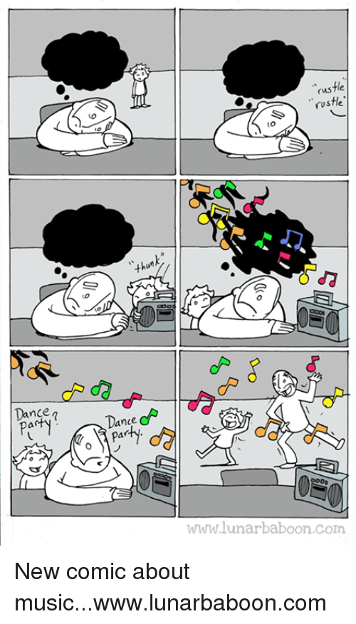 """Dancing, Memes, and Dance: Dance  rus  """"rustle.  wwwww.lunarbaboon.com New comic about music...www.lunarbaboon.com"""