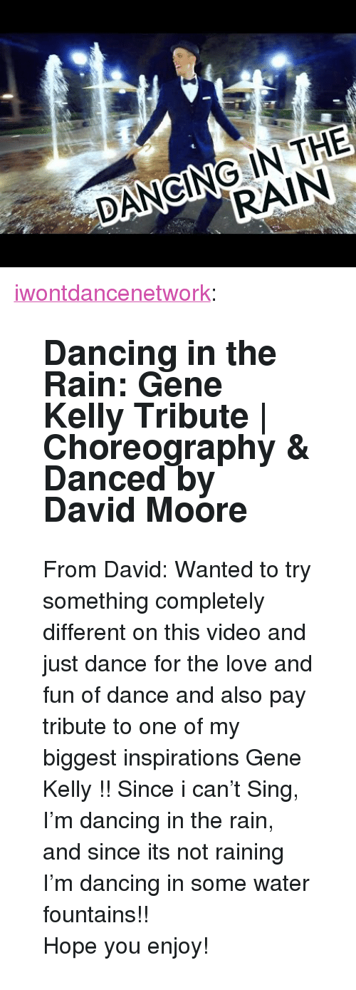 """Dancing, Love, and Tumblr: DANCING IN THE  RAIN <p><a class=""""tumblr_blog"""" href=""""http://iwontdancenetwork.tumblr.com/post/148267714015"""">iwontdancenetwork</a>:</p> <blockquote> <h2><b>Dancing in the Rain: Gene Kelly Tribute 