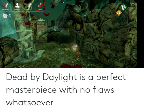 flaws: Dead by Daylight is a perfect masterpiece with no flaws whatsoever