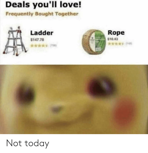 Love, Today, and Rope: Deals you'll love!  Frequently Bought Together  Rope  $10.43  Ladder  $147.78  *006) Not today