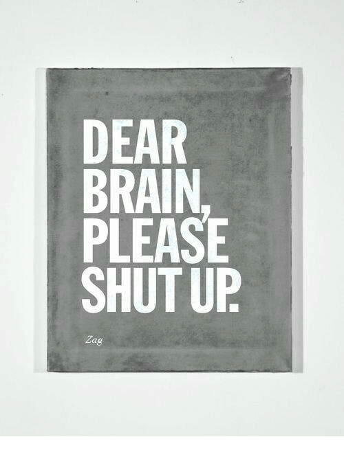 Please Shut Up: DEAR  BRAIN  PLEASE  SHUT UP  Zag