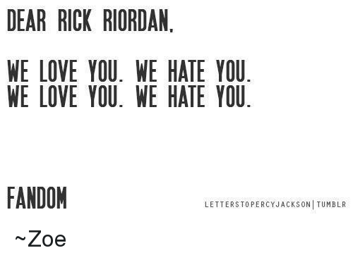 dear rick riordan we love you we hate you we 6096274 ✅ 25 best memes about percy jackson tumblr percy jackson tumblr