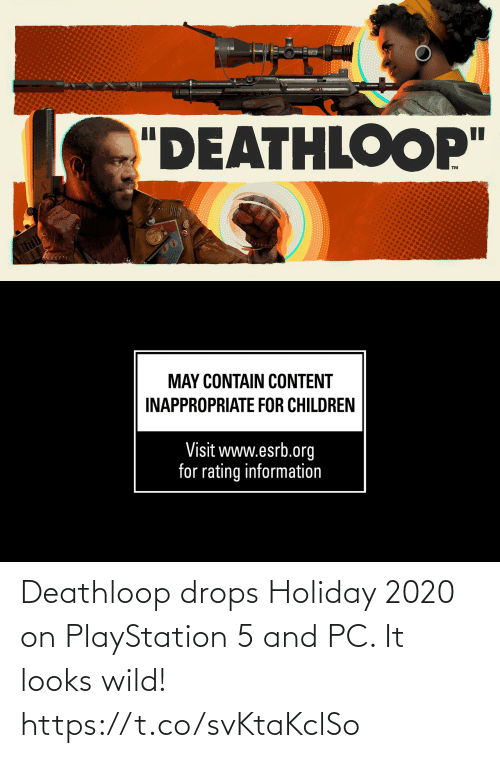 PlayStation: Deathloop drops Holiday 2020 on PlayStation 5 and PC. It looks wild!  https://t.co/svKtaKclSo