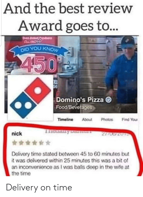 delivery: Delivery on time