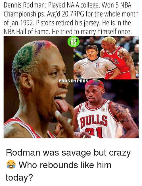 rodman is the best rebounder ever Always have a soft spot for dennis rodman dennis rodman - best rebounder ever the worm - chicago bulls dennis rodman see more from the hardwood basketball history basketball legends basketball stuff bulls basketball basketball players dennis rodman nba players sports memes chicago bulls.