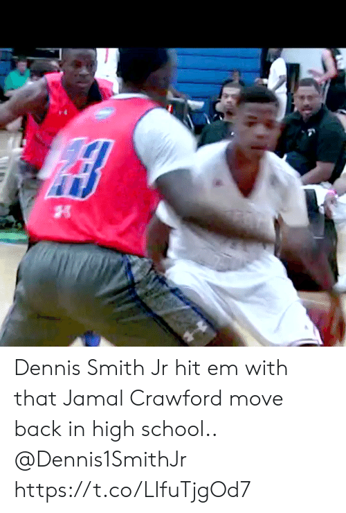 Dennis Smith Jr: Dennis Smith Jr hit em with that Jamal Crawford move back in high school.. @Dennis1SmithJr https://t.co/LIfuTjgOd7
