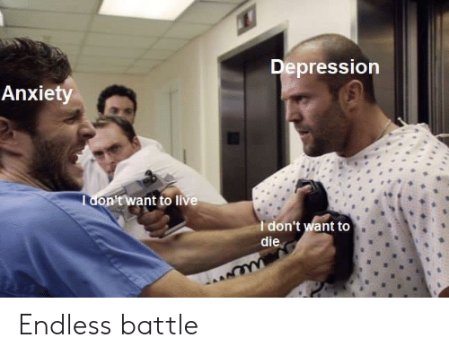Anxiety, Depression, and Live: Depression  Anxiety  Tdon't want to live  Idon't want to  die Endless battle