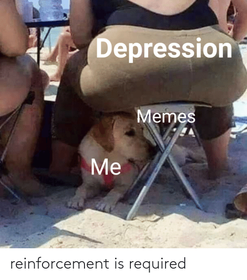 Reinforcement: Depression  Memes  Me reinforcement is required
